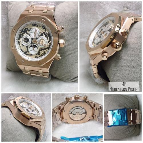 in oak collection case en piguet steel royal audemars chronograph watch watches oo