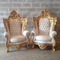 Gold Plating On Italian Baroque Chairs