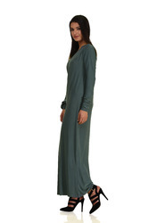 Full Sleeves Cotton Casual Long Dress