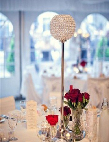 Crystal Candle Centerpiece