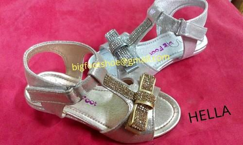 Golden Fancy Material Kids Girl Sandals