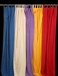 Loop Plain Solid Cotton Curtains, For Door, Size: 140x 200 Cms