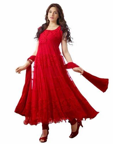 1b5e6ecd0c Red Braso Net Dress Materials, रेड ब्रासो नेट ड्रेस ...