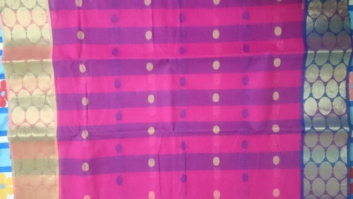 Body Designed Cotton Sarees, Without Blouse Piece