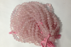 Rose Quartz Faceted Rounds Balls Beads