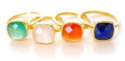 Gemstone Bezel Set Ring