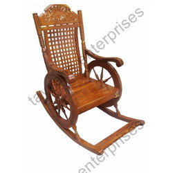 Rocking Chair Sheesham Wood Carving Rocking Chair Manufacturer