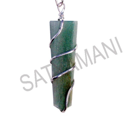 Satyamani Natural Sodalite Point Pendant Small
