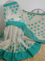 Handloom Applique Saree