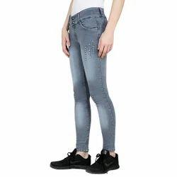 Grey Slim Womens Denim Jeans