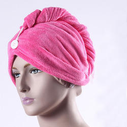 Pink Cotton Women Heading Towels