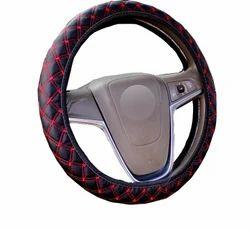 Pegasus Premium Black And Red PU Leather Car Steering Cover