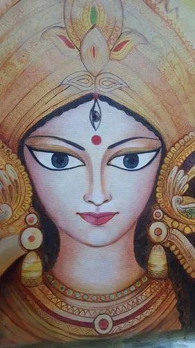 Durga Maa Oil Painting त ल स बन