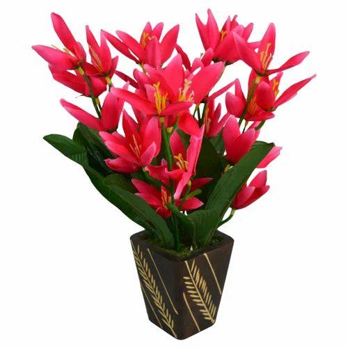 fake flower pot plants, fake flower, kritim phool - the fancy mart
