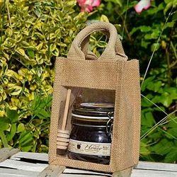 Brown Plain Jute Gift Bags, Capacity (kg): 1-3 Kg