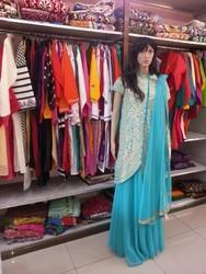 Cotton Straight Suit Ladies Party Wear Dress