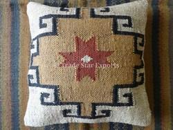 Ethnic Jute Kilim Cushion Cover