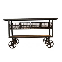 Industrial Console Cart