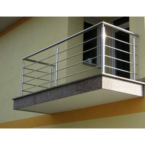 Grills and railings stainless steel balcony railings for Stainless steel balcony grill design