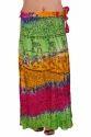 Multicolor Wrap Skirt