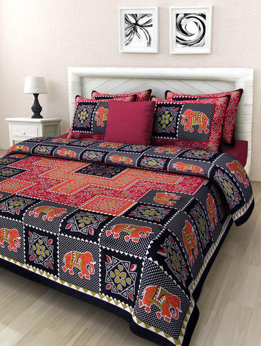 c8d6ce80241 Jaipuri Print Cotton Double Bed Sheet at Rs 400 piece(s)