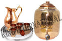 Steel Jug With Copper Lemon Set