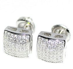 10K White Gold Single Cut Diamond Earring