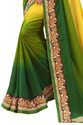 Yellow & Green Saree