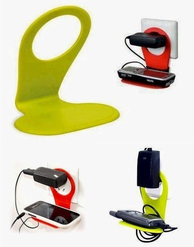 Set Of 2 Universal Mobile Charging Wall Stand Shelf Holder