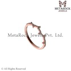 Handmade 14k Rose Gold Diamond Ring