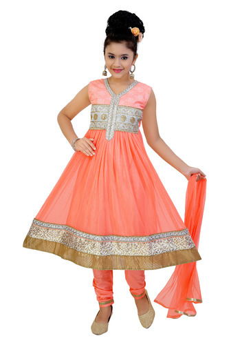 Chanderi Party Wear Embroidered Fancy Churidar For Girls, Rs 690 /piece |  ID: 11094972797