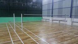 Acrylic Flooring Indoor Wooden Badminton Court, Tamilnadu, South India