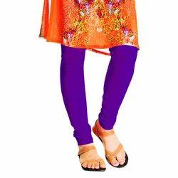 Ladies Dark Purple Plain Leggings