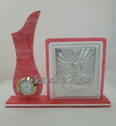 Silver Laxmi With Watch Showpiece