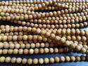 Sandalwood Buddhist Prayer Bead, Shape: Round