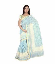 Cotton Resham Woven Border Designer Saree