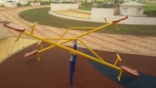Yellow Iron See Saw Play Equipment