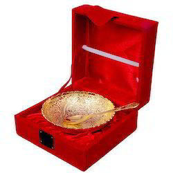 Handcrafted Gold Plated Bowl