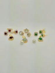 CZ Color Stone Pendent Set