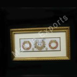 Gold Embossed Marble Painting