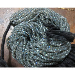 Labradorite Rondelle Beads Faceted Gemstone