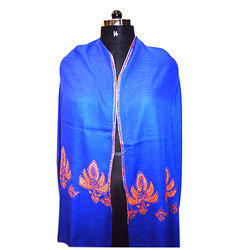 Merino Wool  Border Embroidery Scarves