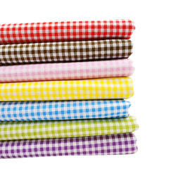 checks design hdpe and pp woven fabrics