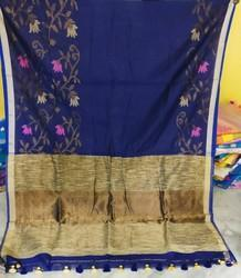 Cotton Silk Saree, With Blouse Piece