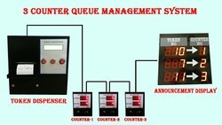 Electronic Queue Management System 3 Counter