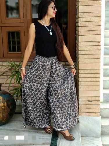 Casual Wear Cotton Palazzos