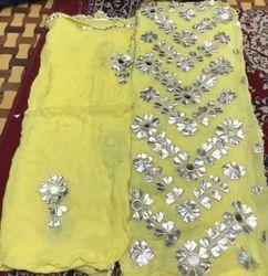 Georgette Ethnic Wear Pakistani Gota Work Dress
