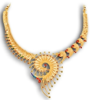 d0d62805b Ladies Designer Gold Necklace at Rs 30000 /piece(s) | Ladies ...