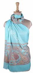 多色印花围巾