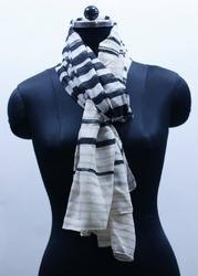 EGSC0008 Stripe Print Cotton Scarf
